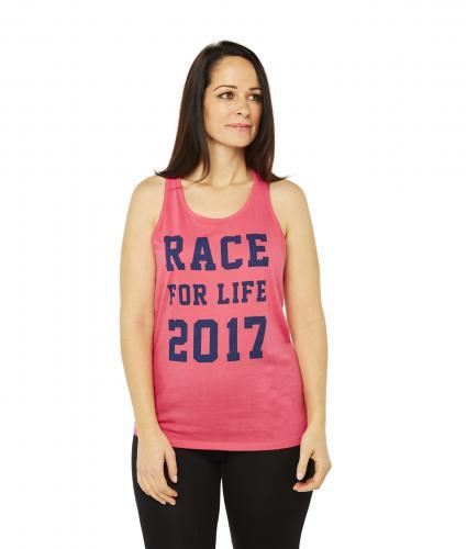 Race For Life  2017 Racer Back Vest Cancer Research UK