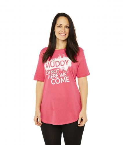 Race For Life  2017 Pretty Muddy Muddy or not T-Shirt  Cancer Research UK