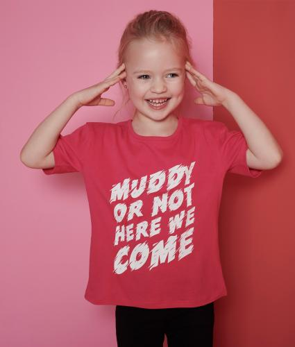 Pretty Muddy Kids Slogan T-shirt Age 3-4 Years
