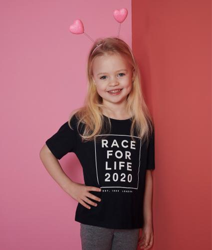 Race for Life 2020 Dated Blue Kids T-shirt