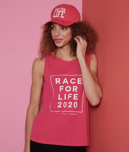 Race for Life 2020 Dated Loose Fit Vest