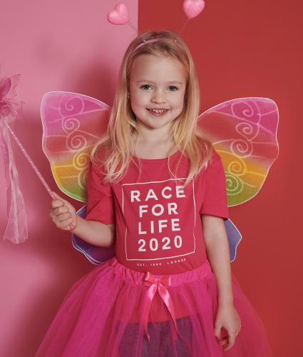 Race for Life 2020 Dated Pink Kids T-shirt