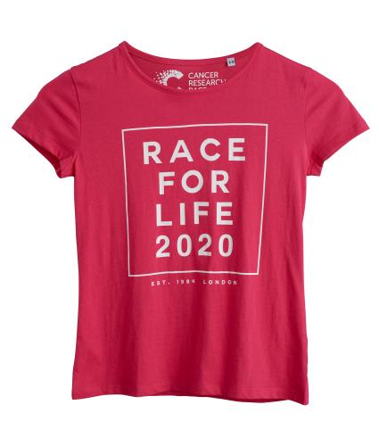 Race for Life 2020 Dated Pink Teens T-shirt