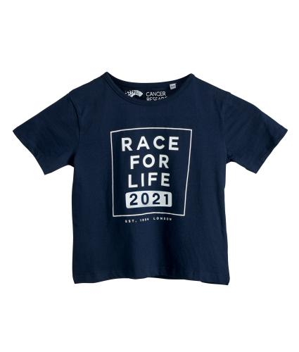 Race for Life 2021 Dated Kids Tee Boy