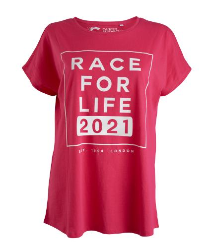 Race for Life 2021 Dated Loose Fit T-shirt