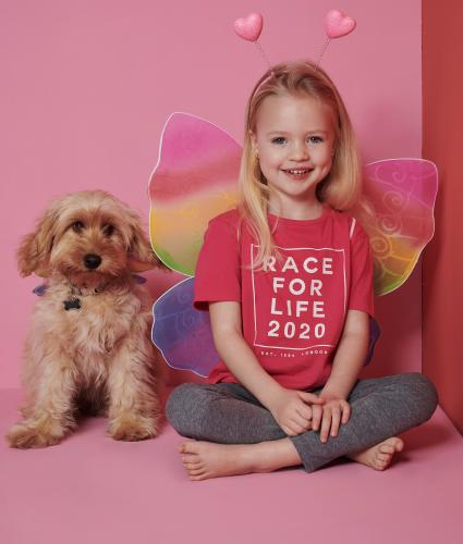 Race for Life Rainbow Wings