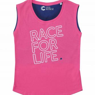 Race For Life  2017 Teen Contrast T-Shirt Cancer Research UK