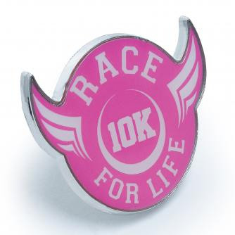 Race For Life  2017 10k pin badge Cancer Research UK