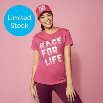 Race for Life Racer Design Fitted T-shirt