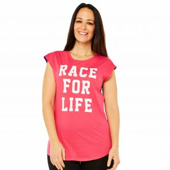 Race For Life  2017 Varsity Contrast T-Shirt Cancer Research UK